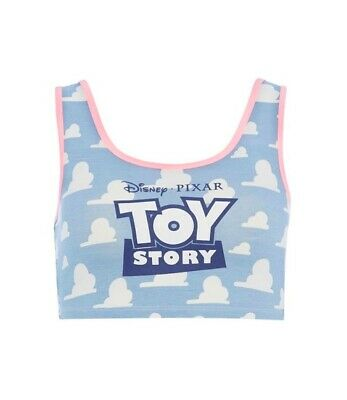 PRIMARK Ladies Girls TOY STORY Pyjama Pajama Crop Vest Shirt Top DISNEY PIXAR