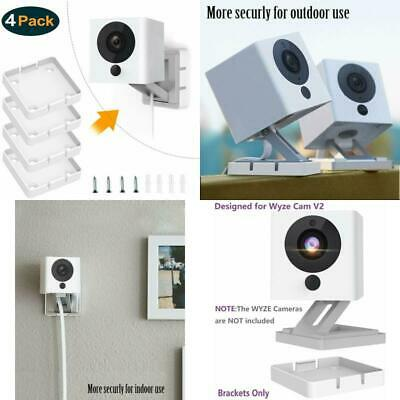 Wyze Cam V2 Wall Mount Bracket 1080p Hd Security Camera Holder White 4 Pack New