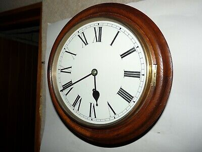 "Excellent Winterhalder & Hofmeier 10"" dial wall clock . Railway .Office  ."