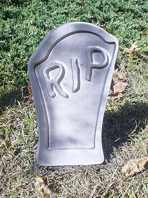 Tombstone Mold RIP Curved Concrete Halloween Reusable Halloween Prop Cemetery