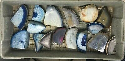 Top Quality 25 Lbs Lot Of Agate Halves - Large Solid Pieces