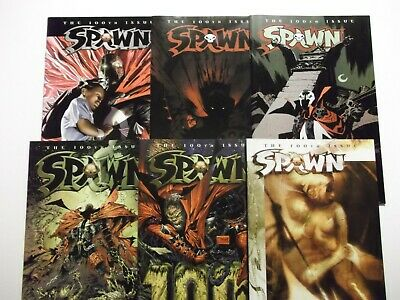 Spawn #100 (2000) Death of Angela set of All 6 Variant Covers NM