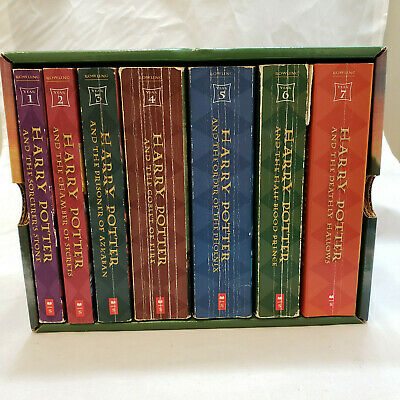 Harry Potter Complete Book Set 1-7 Paperback Books In Case J K Rowling
