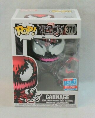 Funko Pop Marvel NYCC Exclusive CARNAGE Vinyl Figure 371 Venom Spider Man