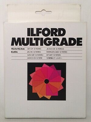 "Ilford Multigrade Filters 6""x 6"" Set of 12"