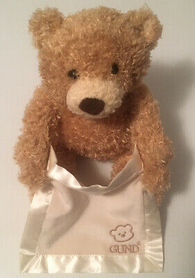 Gund Baby Peek-A-Boo Teddy Bear Talking Animated Stuffed Animal Plush 11.5""