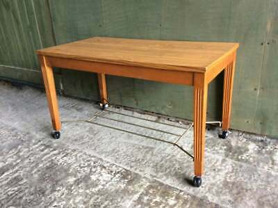 Mid century 1960's small coffee table / occasional table on wheels