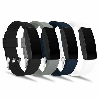 4 Pack Silicone Replacement Watch Band Wristband For Fitbit Inspire HR & Ace 2