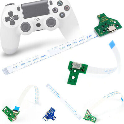 For PS4 Dualshock 4 ControllerUSB Charging Port Socket Board 12/14 Pin Cable