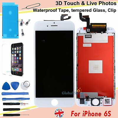 For Apple iPhone 6S Screen LCD Digitizer Replacement Assembly White 3D Touch UK