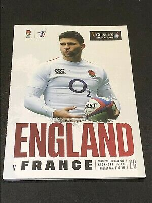 ENGLAND v FRANCE 2019 SIX NATIONS CHAMPIONSHIP OFFICIAL PROGRAMME