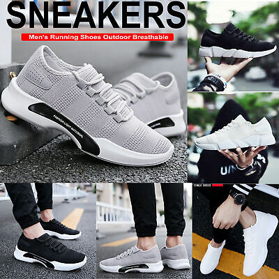 Mens Womens Sneakers Trainers Sports Running Casual Shoes Size Lace Up Fashion