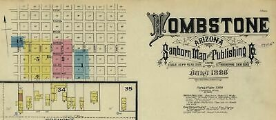 Tombstone, Arizona~Sanborn Map© sheets 1886~with 3 maps on a CD