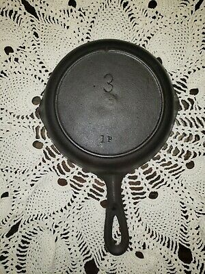 Vintage Lodge Cast Iron Skillet - Heat Ring- One Notch - #3 Restored/Seasoned