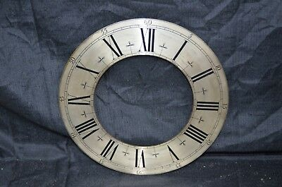 "11"" Antique Clock Face Solid Brass Grandfathers Grandmothers Clock Roman Numeral"