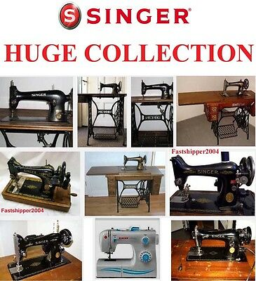 Singer Sewing Machines Service Repair Manual Parts Lot Large Collection Ultimate