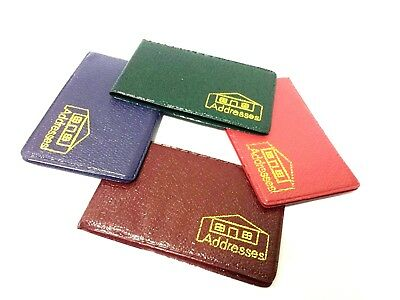 4 Mini Personal phone address Colorful  Contact Pocket Size Green Red  Limited