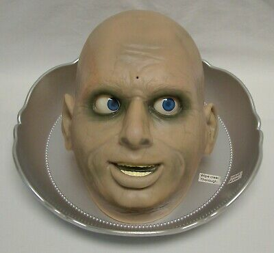 Gemmy Talking Mouth & Eyes Move Butler Animatronic Halloween Prop Candy Dish