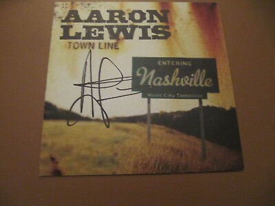 Autographed Aaron Lewis Hand Signed Town Line CD Singer from Staind