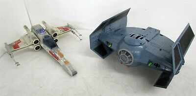 Vintage Star Wars Hasbro 1997 Darth Vader TIE Fighter & 1995 Tonka X-Wing