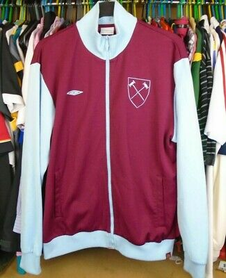 West Ham United The Irons Hammers Umbro Tracksuit Jacket Top Xl Adult