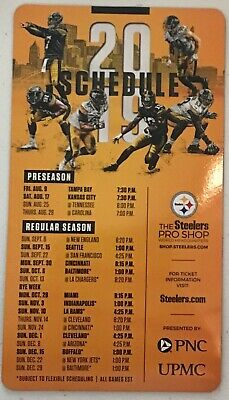 """NEW! Pittsburgh Steelers 2019 Magnetic Schedule 5""""X9"""" Buy More then 1 and save"""