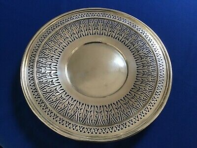 Elaborate Reticulated Plate -Dominick And Haff Sterling Silver   #4156A 260 gram