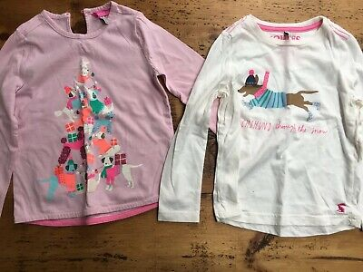 GIRLS Age 4 Joules Christmas Tops Bundle - Excellent condition