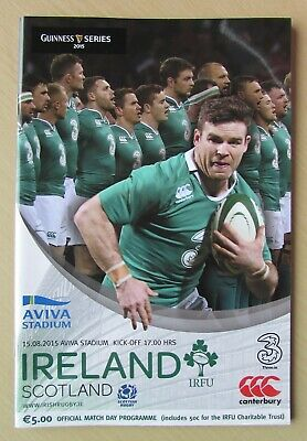 Very Rare 2015 - Ireland v Scotland - World Cup Warm-Up Programme