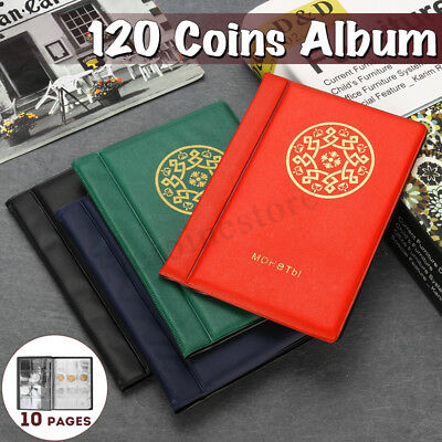 120 Album Coin Penny Money Storage Collection Book Case Folder Holder Durable !