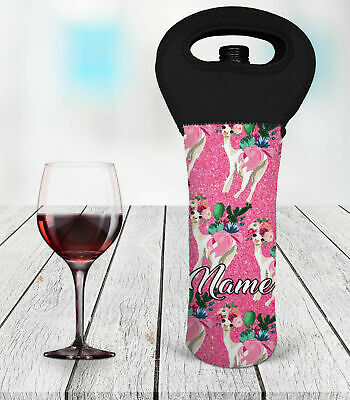 Personalised Llama Wine Bottle Cooler Carry Bag