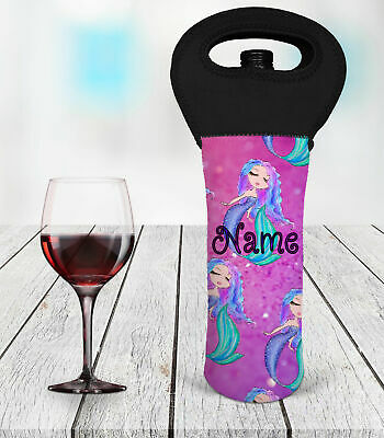Personalised Mermaid Wine Bottle Cooler Carry Bag