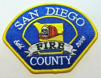 San Diego County California Fire Dept Patch Unused