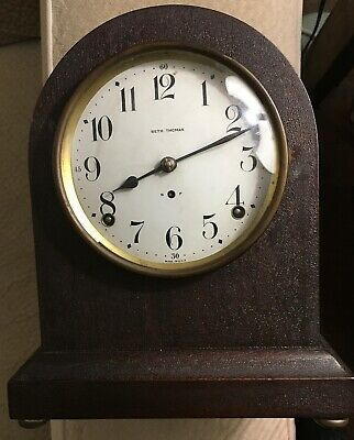 Antique Seth Thomas Mantle Clock Working. Bidding Starts At $1