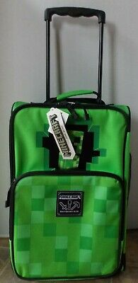 Minecraft Kids Rolling Luggage Carry On ~ NWT  Green