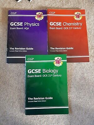 CGP Biology Chemistry And Physics GCSE Revision Workbooks Guides OCR AQA