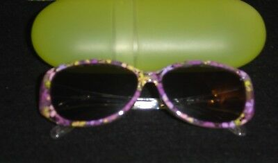 Childs  Pink / Flower Sunglasses With Case Category 3 by Auriol