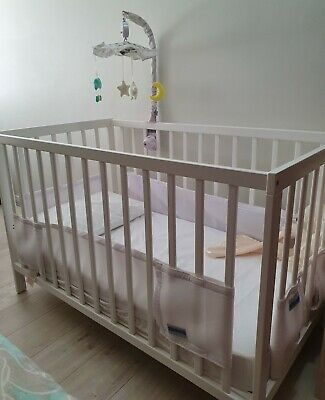 Baby Cot White and matress never used