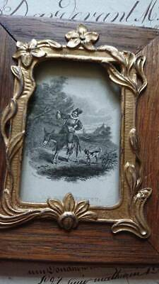 BEAUTIFUL ANTIQUE FRENCH TIMEWORN ART NOUVEAU PICTURE PHOTO FRAME c1910