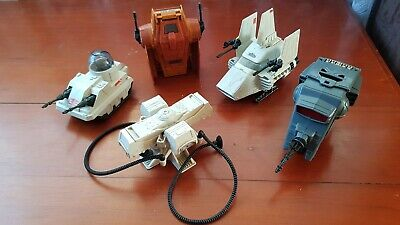 Vintage Star Wars 5x MINI RIGS LOT 2 (Kenner 1980s) includes ISP-6