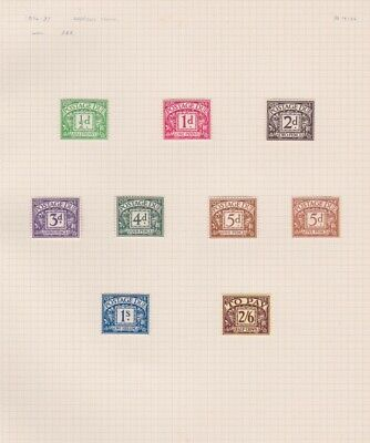 Stamps Gb Postage Dues D19-26 Harrison E8R M/Mint Rare Issues On Old Album Page