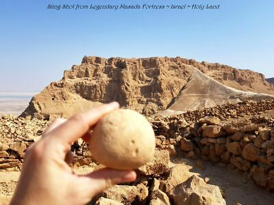 Ancient Roman Sling Shot from Legendary Masada Fortress ~ Israel ~ Holy Land