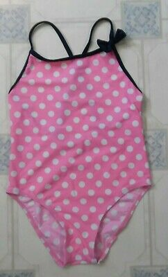 M/&S Ladies White Spotty Polka Swimsuit Swimming Swim Suit Costume Size 12 18 A96