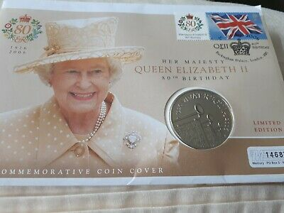 Queen elizabeth ii Commerative 80th Birthday £5 Coin Limited Edition