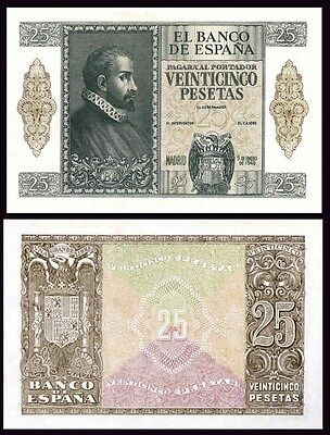 Facsimil Billete 25 Pesetas de Enero 1940 NE - Reproduction