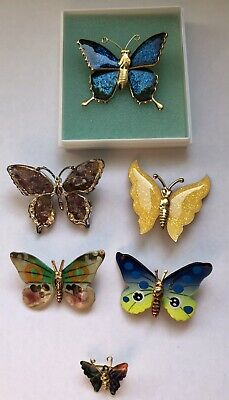 Selection Of 6 Butterfly Broaches