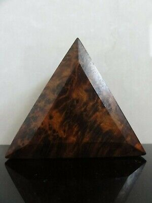 Antique Victorian Burr Walnut Wooden Treen Pebble Snuff Pocket Box Rare Shape