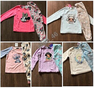 Primark Kids Girls Minnie Mouse Stitch Aladdin Frozen LOL Surprise Fleece Pyjama