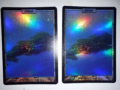 Mtg island unhinged  foil x 1 great condition