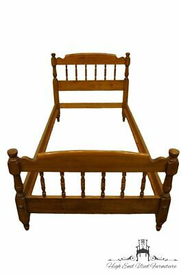 TELL CITY Solid Hard Rock Maple Colonial Style Twin Size Bed 8115 - #48 Andov...